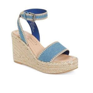 NWOT Matisse Frenchie Denim Espadrille Wedges